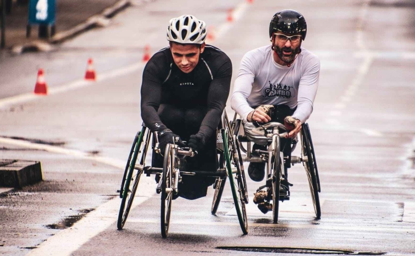 Wheelchair racers.