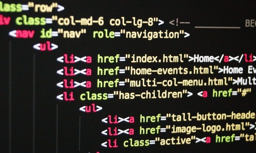 HTML code that includes an ARIA role of navigation.